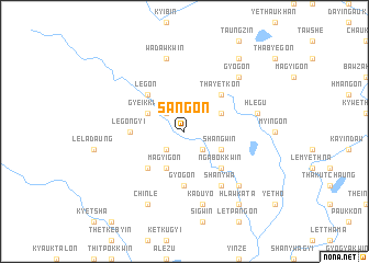 map of Sangon