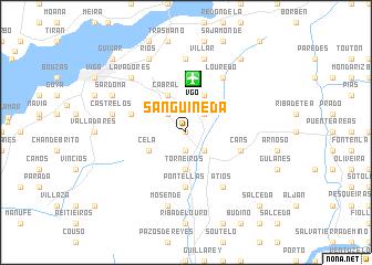 map of Sanguiñeda