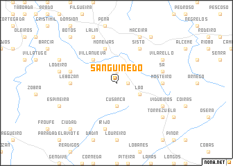map of Sanguiñedo