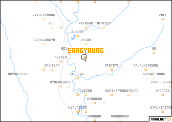 map of Sangyaung