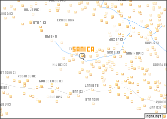 map of Sanica