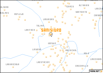 map of San Isidro