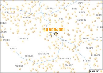 map of Sanjani