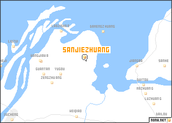 map of Sanjiezhuang