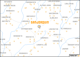 map of San Joaquín