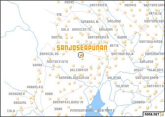 map of San José Apunan