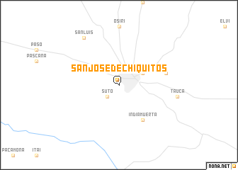 map of San José de Chiquitos
