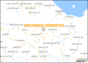 map of San José de los Mameyes