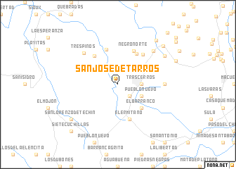 map of San José de Tarros