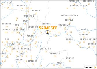 map of San Josef