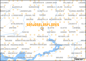map of San José Las Flores
