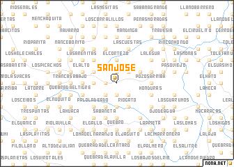map of San José