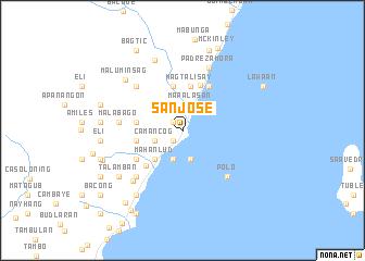 San José (Philippines) map - nona.net