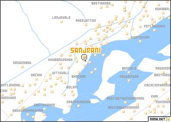 map of Sanjrāni
