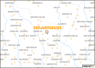 map of San Juan de Dios