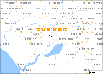 map of San Juan de Mata