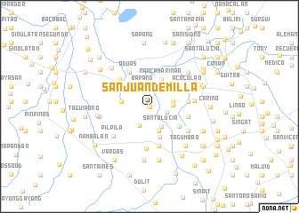 map of San Juan de Milla