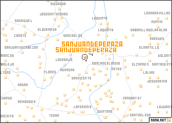 map of San Juan de Peraza