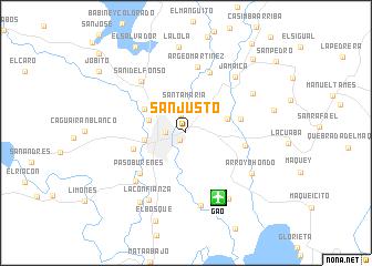 San Justo Cuba map nonanet