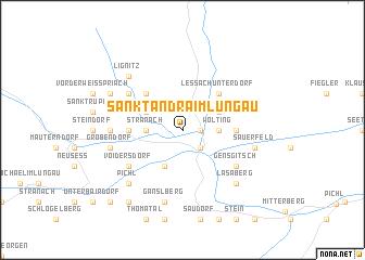 map of Sankt Andrä im Lungau