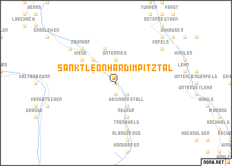 map of Sankt Leonhard im Pitztal