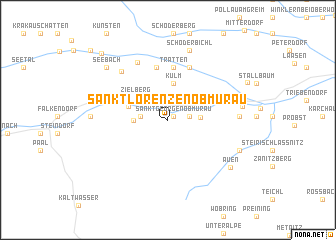 map of Sankt Lorenzen ob Murau