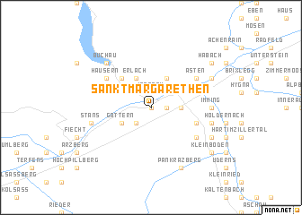 map of Sankt Margarethen
