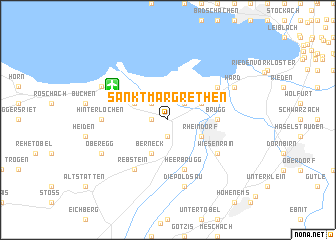map of Sankt Margrethen