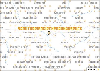 map of Sankt Marienkirchen am Hausruck