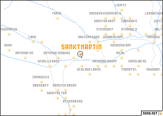 map of Sankt Martin