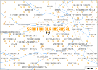 map of Sankt Nikolai im Sausal