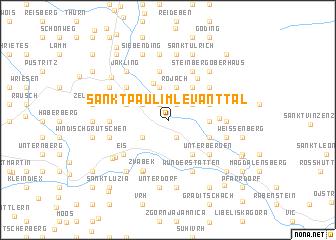 map of Sankt Paul im Levanttal