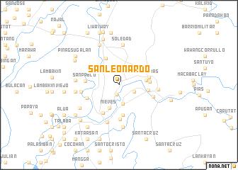 map of San Leonardo