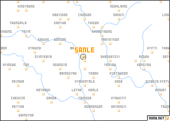 map of Sanle