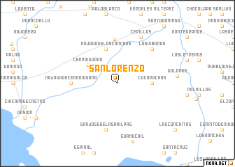 map of San Lorenzo