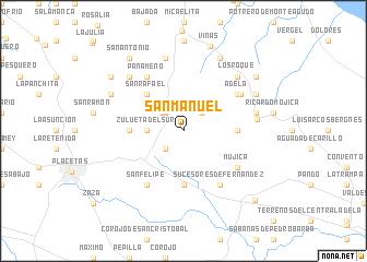 map of San Manuel