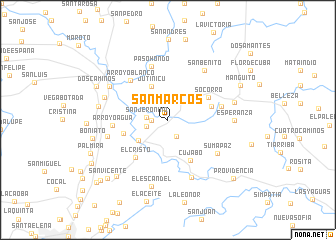 map of San Marcos