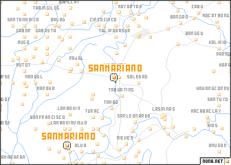map of San Mariano