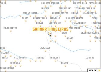 map of San Martín de Eiros