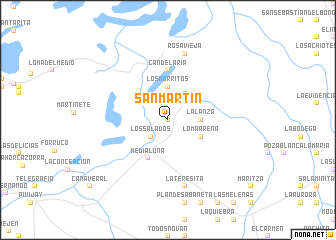 map of San Martín