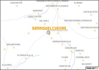 San Miguel Cuevas Mexico Map Nona Net