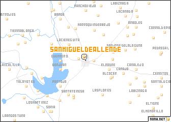 San Miguel de Allende (Mexico) map - nona.net on hermosillo map, san miguel county nm map, ixtapan de la sal map, mexico map, morelia map, isla mujeres map, antigua guatemala map, puebla on map, rio de janeiro map, latin america map, san cristobal de las casas map, ixtapa zihuatanejo map, segovia spain on a map, cozumel map, real de catorce map, buenos aires map, puerto vallarta map, rincon de guayabitos map, chichen itza map, queretaro map,