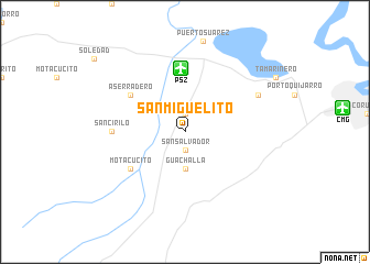 San Miguelito Bolivia map nonanet
