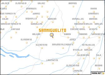 San Miguelito Guatemala map nonanet