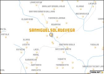 San Miguel Sola de Vega Mexico map nonanet