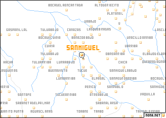 map of San Miguel