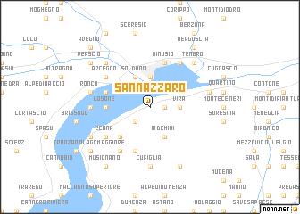 map of San Nazzaro