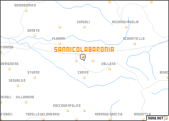 San Nicola Baronia Italy map nonanet