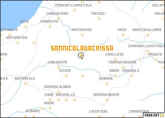 San Nicola da Crissa Italy map nonanet