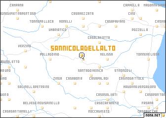 San Nicola dellAlto Italy map nonanet